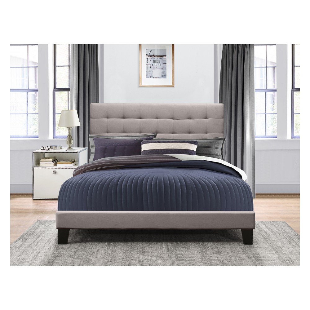 Full Delaney Upholstered Bed In One Stone Gray - Hillsdale Furniture