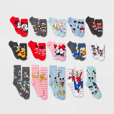 Women's Mickey Mouse & Friends 15 Days of Socks Advent Calendar - Assorted Colors 4-10