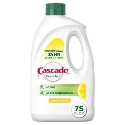 Cascade Free & Clear Gel Lemon Essence Disinfectant - 75 fl oz