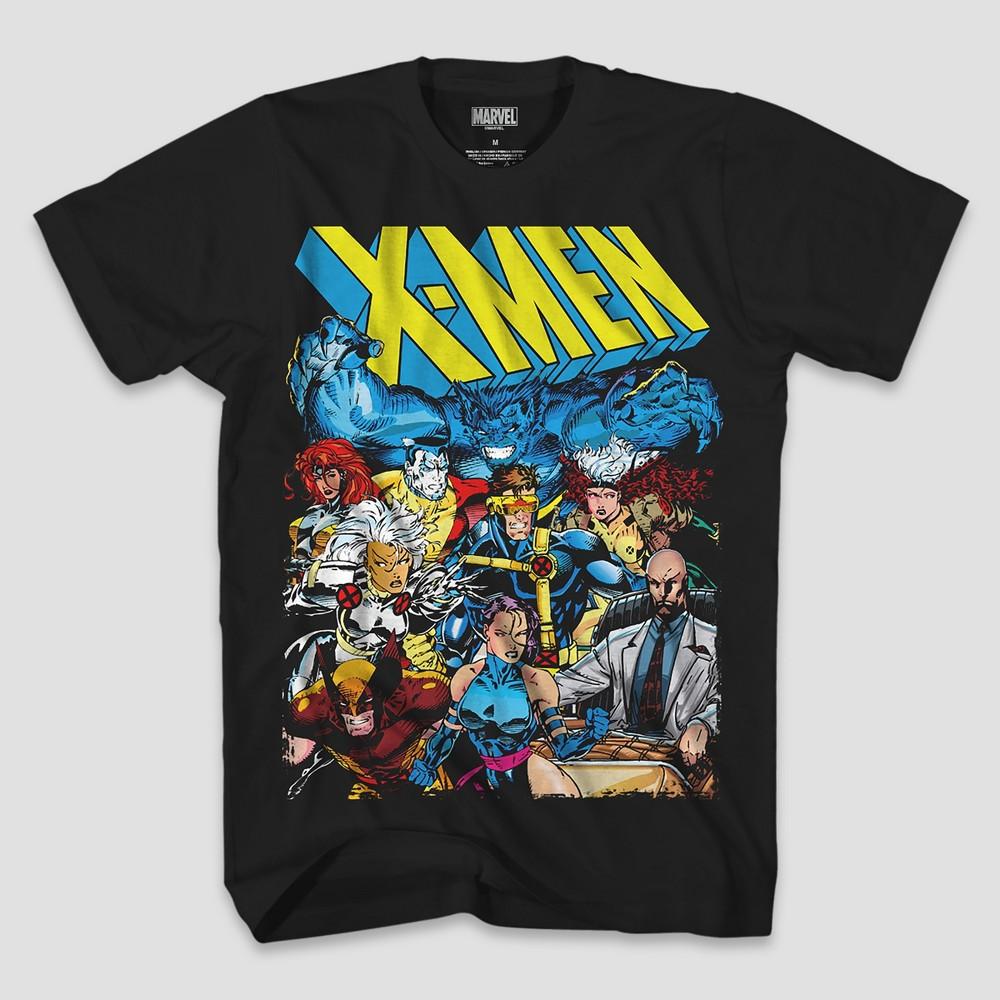 Men's Marvel X-Men Group Short Sleeve T-Shirt - Black L