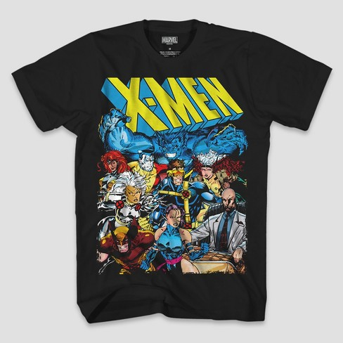 6a3660ba1 Men's Marvel X-Men Group Short Sleeve T-Shirt - Black : Target