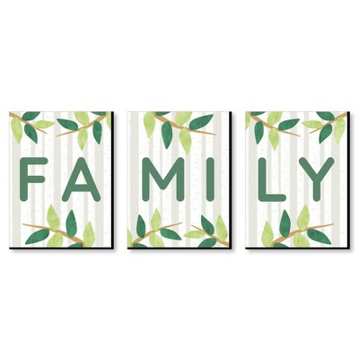 Big Dot of Happiness Family - Home Wall Art and Living Room Decor - 7.5 x 10 inches - Set of 3 Prints