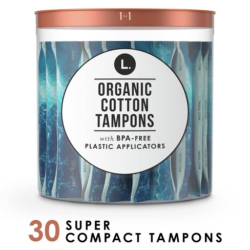 L. Organic Cotton Super Absorbency Compact Tampons - 30ct - image 1 of 4