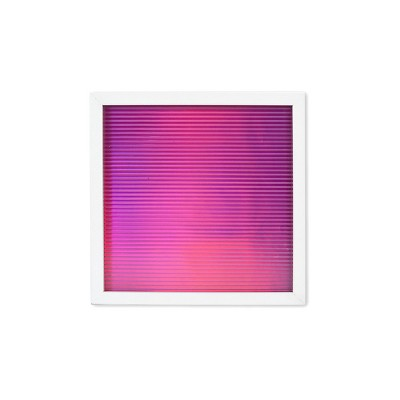 Metallic Letter Board Iridescent Pink/White - New View