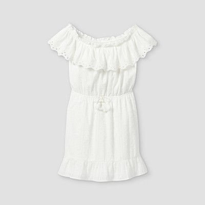 Girls' Ruffle Off the Shoulder Short Sleeve Dress - art class™