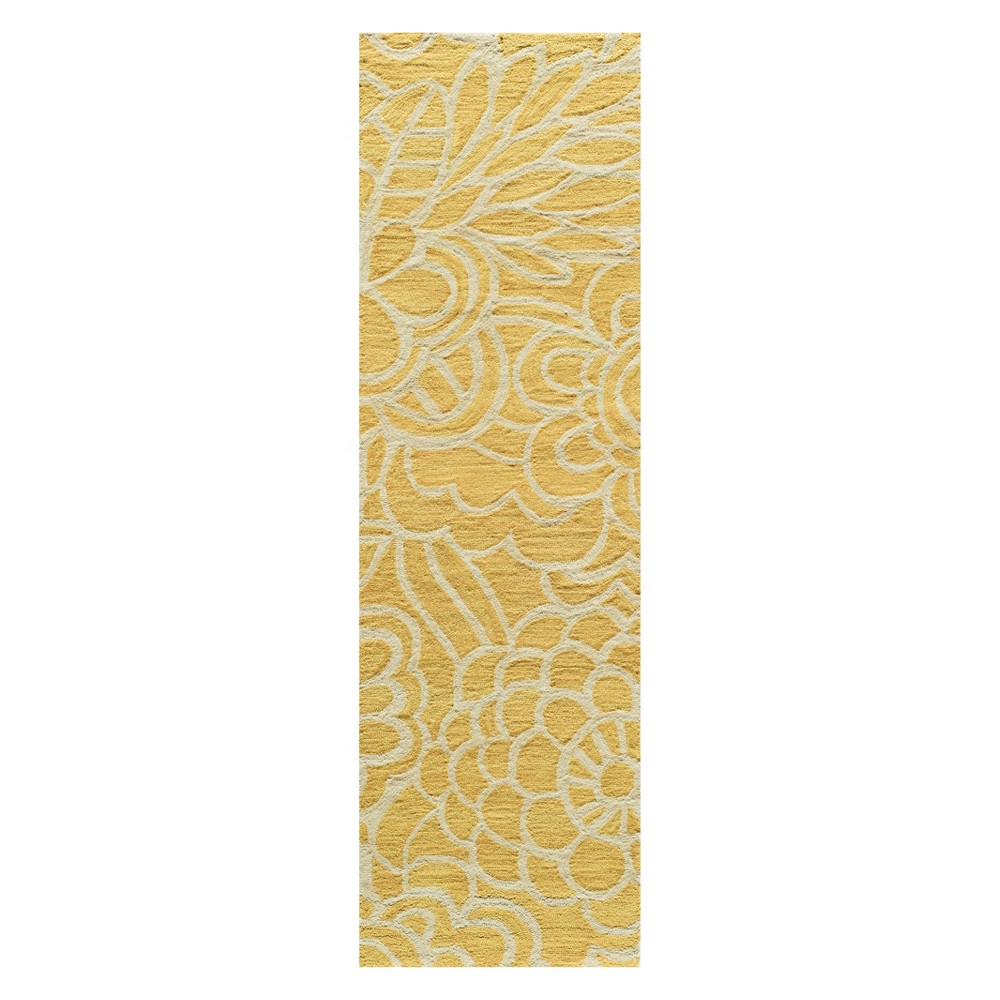 2'3X8' Floral Tufted Runner Yellow - Momeni
