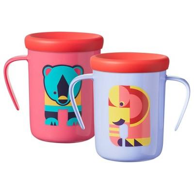 2pk Cup 360 Trainer Portable Drinkware Elephant/Bear