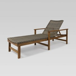 Hampton Acacia Chaise Lounge - Christopher Knight Home
