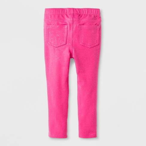 aa8b0def Toddler Girls' Jeggings - Cat & Jack™ Pink Sparkle 3T : Target