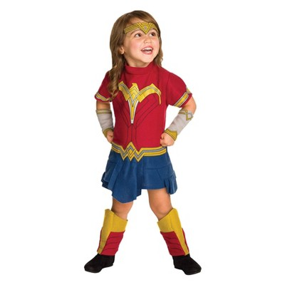 Toddler Girlsu0027 Wonder Woman Romper Halloween Costume 3T 4T