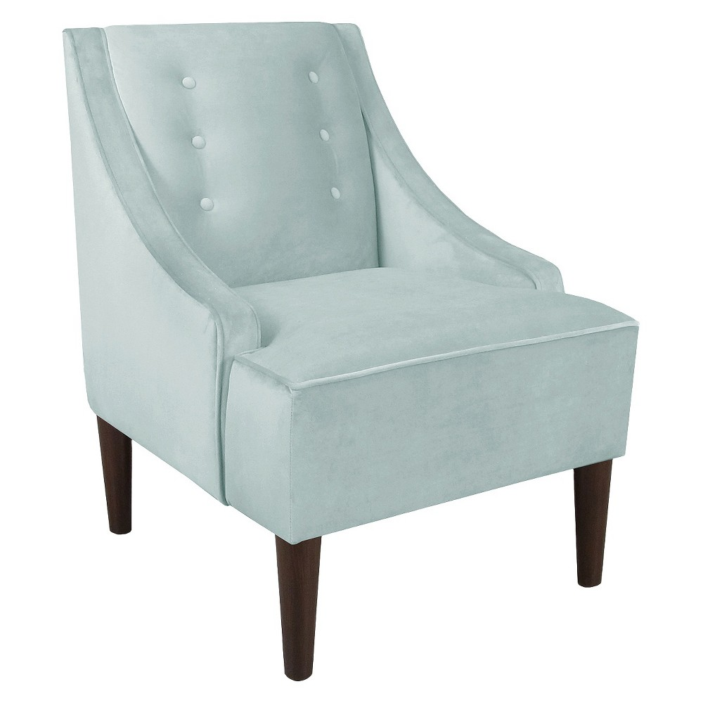 Skyline Custom Upholstered Swoop Arm Chair - Skyline Furniture, Velvet Pool