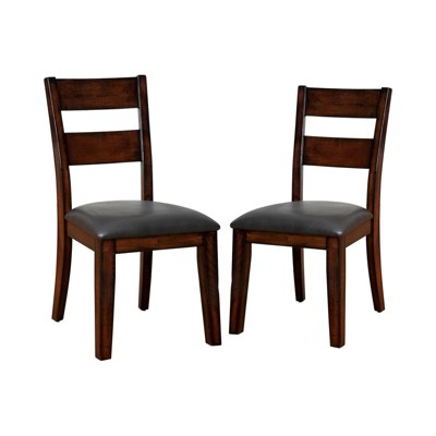 Set of 2 Two Panel Breighton Backed Side Chair Dark Red - HOMES: Inside + Out