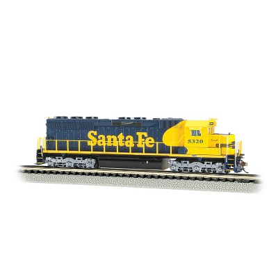 Bachmann Trains 66454 N Scale 1:160 Santa Fe #5320 DCC Sound Equipped Diesel Locomotive Train with 3 Air Horns and 1 Bell, Black/Yellow