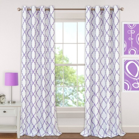 Candice Kids Blackout Window Curtain Panel - Elrene Home Fashions - image 1 of 4