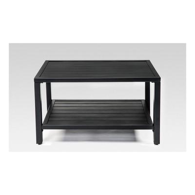 Steel Slat Patio Coffee Table - Black - Threshold™