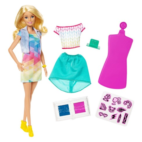 Barbie Crayola Color Stamp Fashion Doll - image 1 of 6