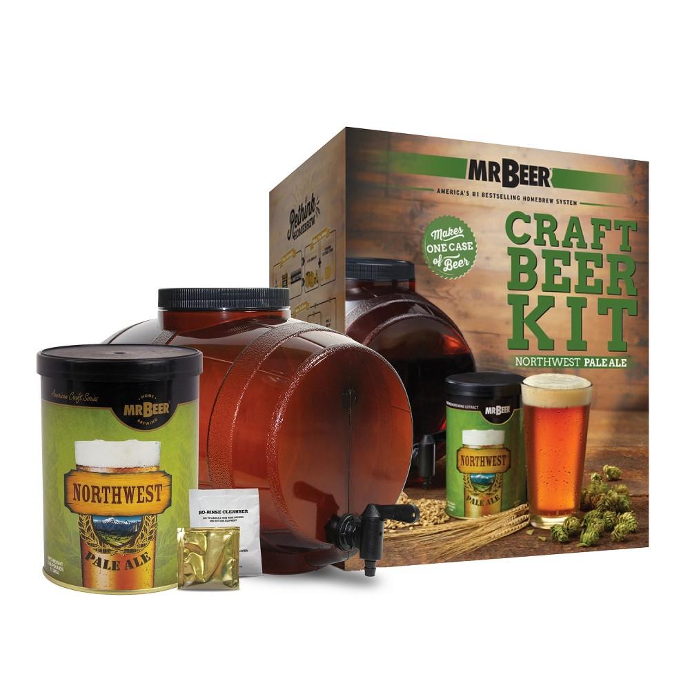 Image of Mr. Beer Northwest Pale Ale Craft Beer Making Kit, Brown