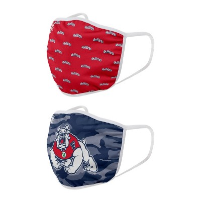 NCAA Fresno State Bulldogs Adult Face Covering 2pk