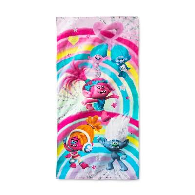 Trolls Beach Towel Pink and Blue - Dreamworks