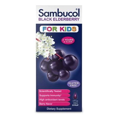 Sambucol for Kids Black Elderberry Immune Support Syrup - 4 fl oz
