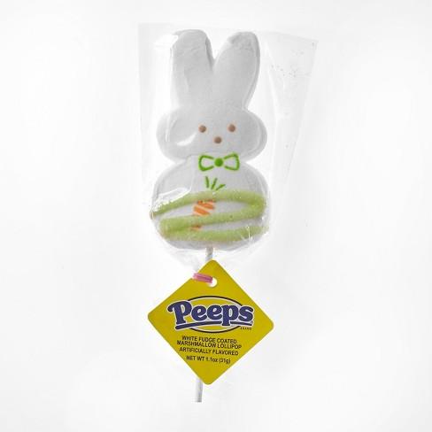 1cb1c36bdac13 Peeps Easter White Marshmallow Bunny Lollipop - 1.1oz   Target