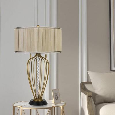 "30"" Metal Laval Table Lamp Antique Brass/Black - Cal Lighting"