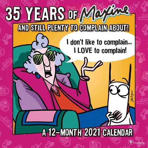 2021 Wall Calendar Maxine  The Time Factory : Target
