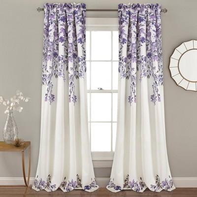 Set of 2 Tanisha Room Darkening Window Curtain Panels - Lush Décor