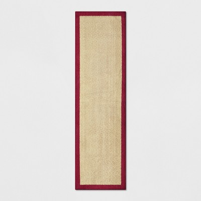 2'X7' Tufted Runner Washable Rug Solid Red - Threshold™