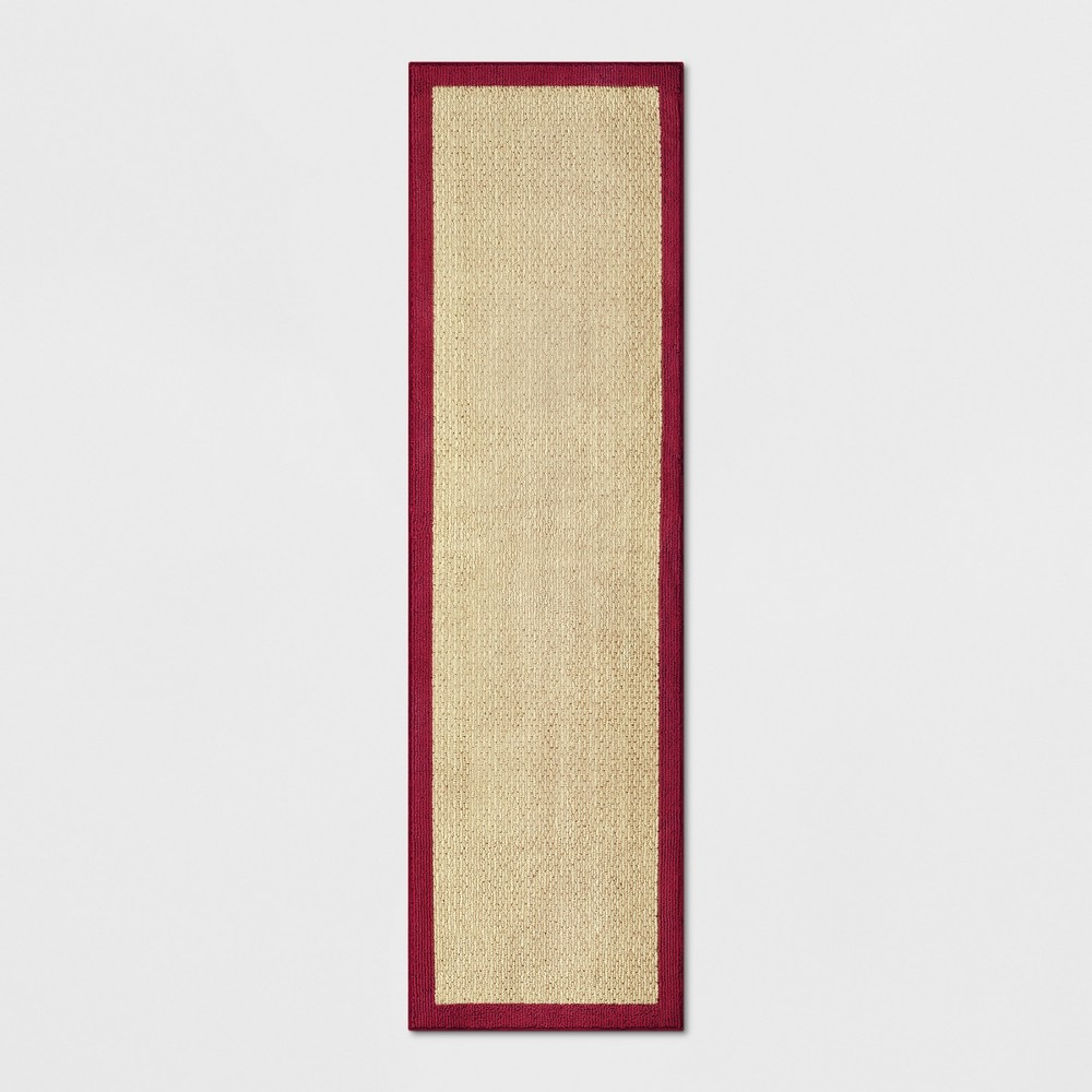 2'X7' Tufted Runner Washable Rug Solid Red - Threshold