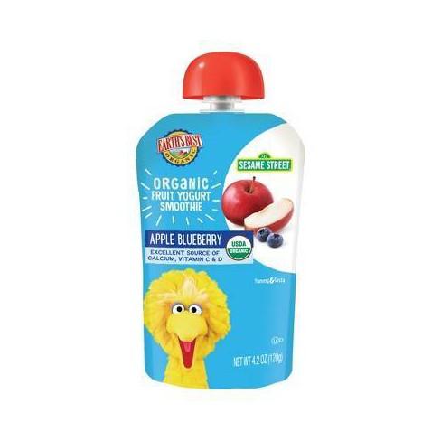 Earth's Best Organic Apple Blueberry Fruit Yogurt Smoothie - 4.2oz - image 1 of 3