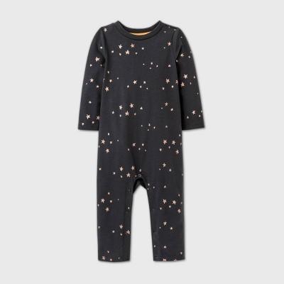 Baby Girls' Star Tutu Bum Romper - Cat & Jack™ Charcoal Gray 0-3M