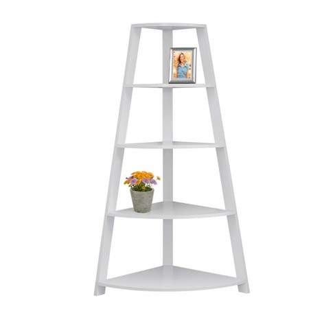 """60"""" Bookcase Corner Accent Etagere White - EveryRoom - image 1 of 3"""