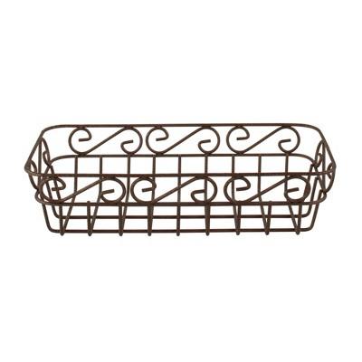 Scroll Bread Basket - Hammered Bronze