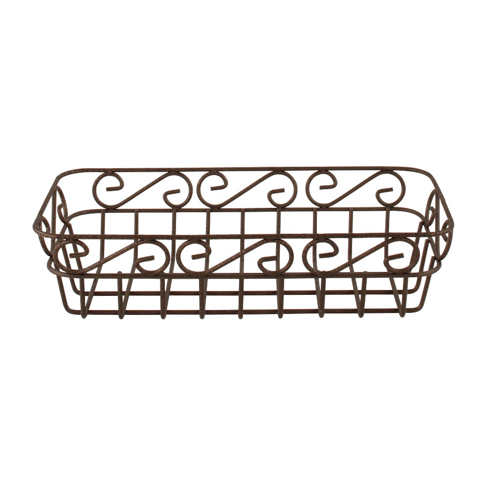 Image of Scroll Bread Basket - Hammered Bronze