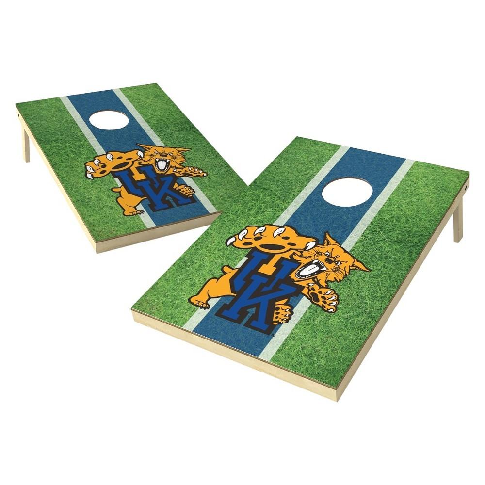 Kentucky Wildcats Wild Sports 2' x 3' Field Design Tailgate Toss Platinum Cornhole Set