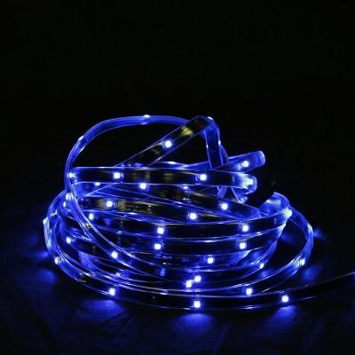 Northlight 18' Blue LED Outdoor Christmas Linear Tape Lighting - Black Finish