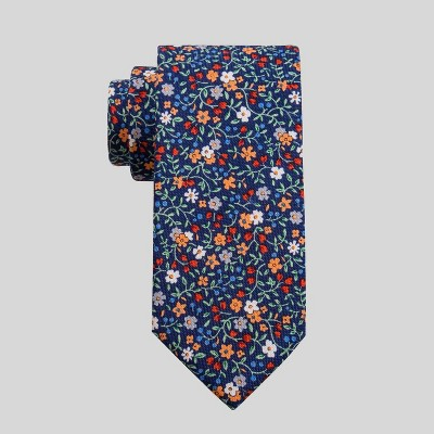 Men's Floral Print Charles Necktie - Goodfellow & Co™ Navy One Size