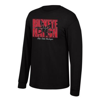 NCAA Ohio State Buckeyes Men's Long Sleeve Crew Neck T-Shirt