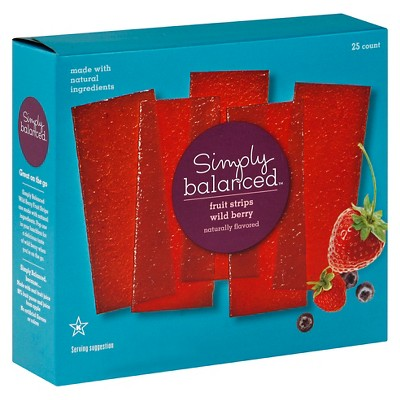 Wild Berry Fruit Strips 25ct - Simply Balanced™