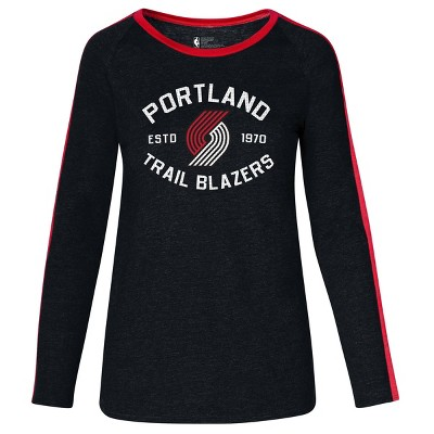 NBA Portland Trail Blazers Women's Team Shoulder Stripe Sweatshirt