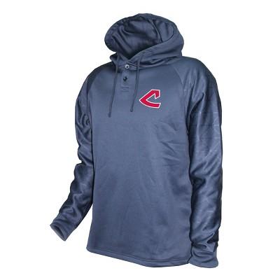 MLB Cleveland Indians Men's Hooded Henley Pullover