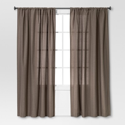 Farrah Curtain Panel Gray (54 x84 )- Threshold™
