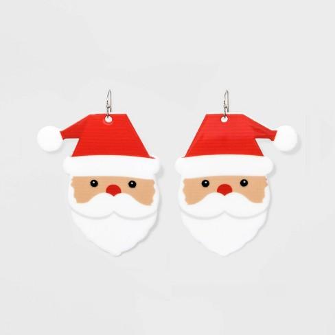 Santa Drop Novelty Earrings - Red - image 1 of 2