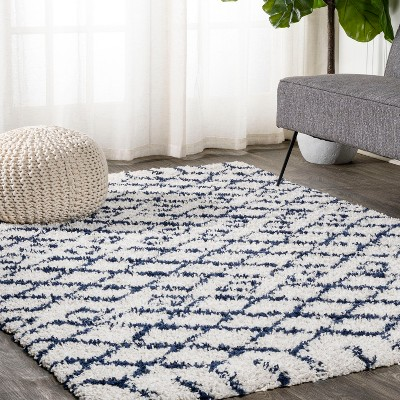5'x8' Rectangle Loomed Geometric Area Rug Beige - JONATHAN  Y