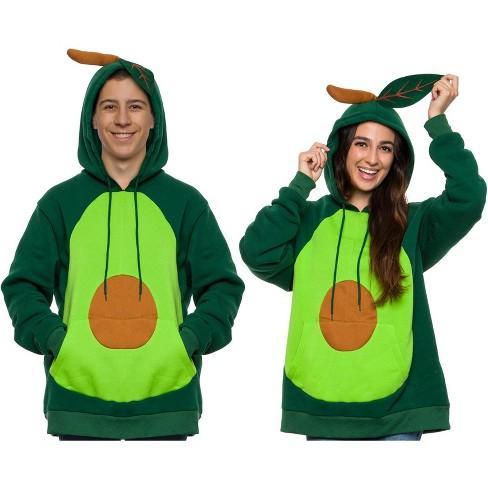 Funziez! Avocado Adult Unisex Hooded Sweatshirt - image 1 of 4