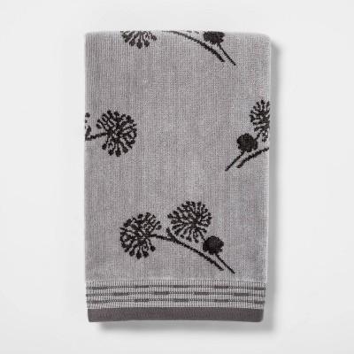 Harvest Dandelion Velour Hand Towel Gray - Threshold™