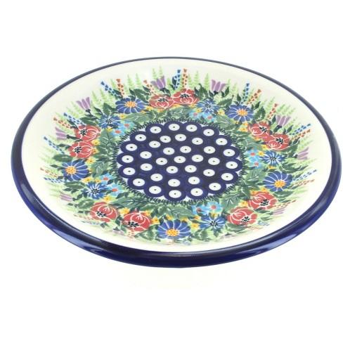 Blue Rose Polish Pottery Summer Daze Dinner Plate - image 1 of 1