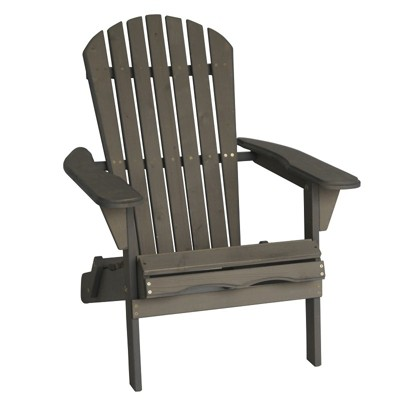 Villaret Wood Adirondack Chair - Gray - Thy Hom