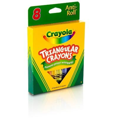 Crayola Triangular Crayons, Assorted Colors 52-4008